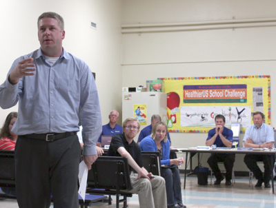 Principal Tim Felderman discusses Competency Based Education at the latest School Board meeting. (Submitted)